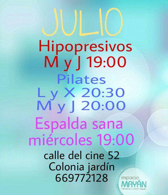 Pilates Julio colonia jardin