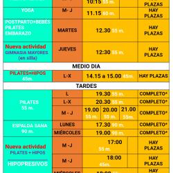 PLAZAS Y ACTIVIDADES LIBRES 2019/2020
