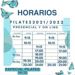horarios pilates 21 22