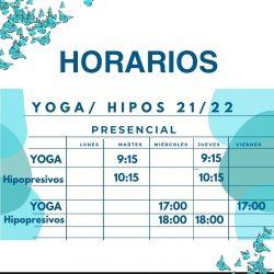 horarios yoga e hipopresivos colonia jardín 21 22